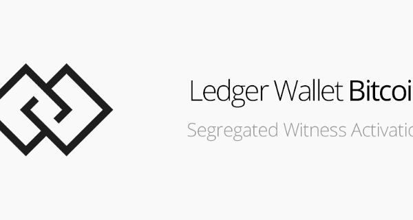 Ledger releases Segregated Witness support