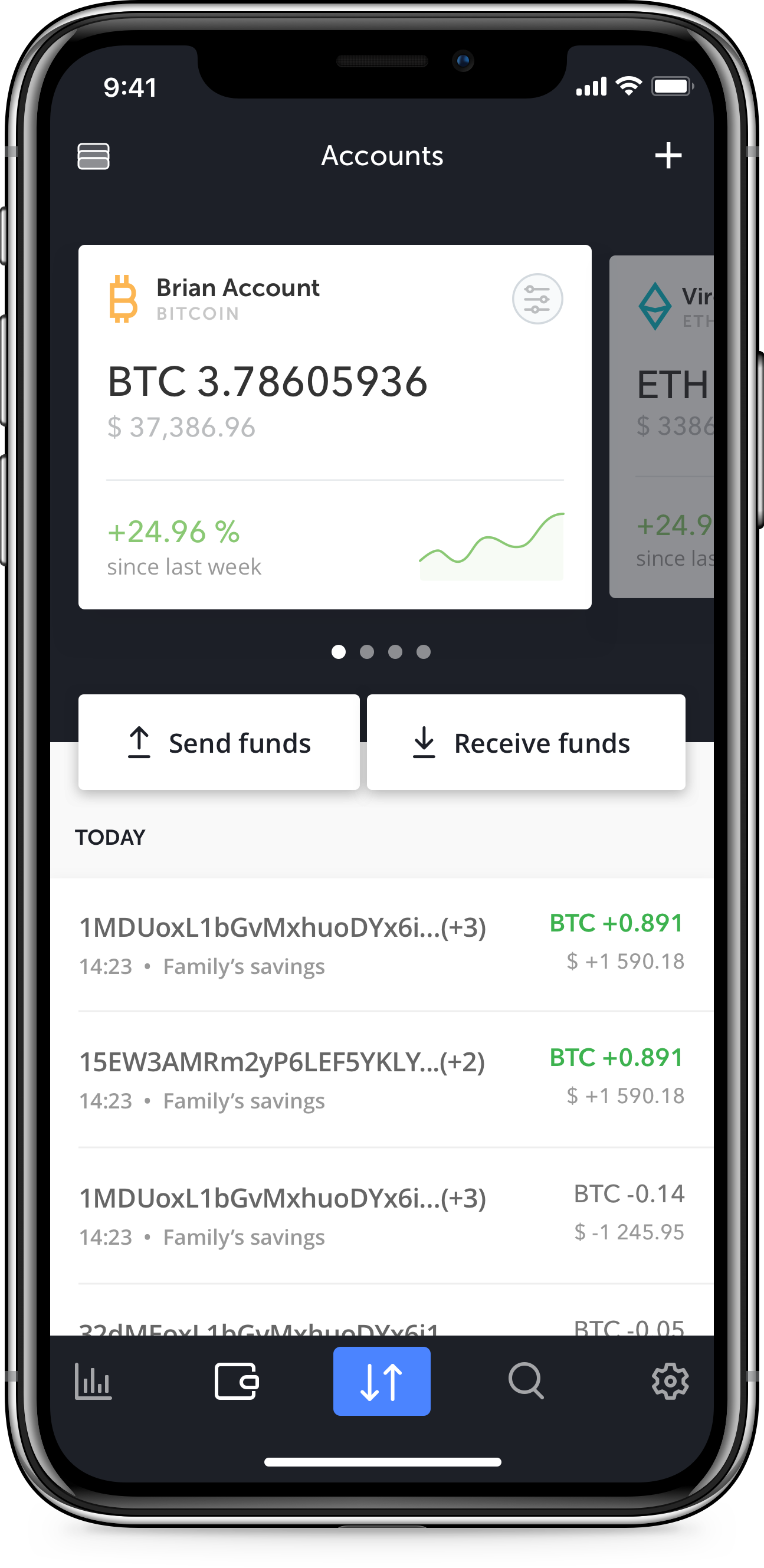The ledger wallet manager
