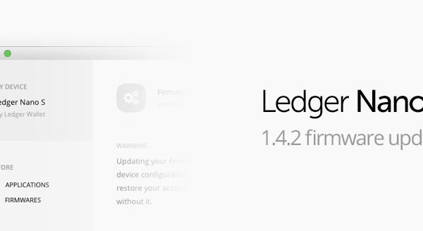 Announcing the availability of Ledger Nano S Firmware 1.4.2