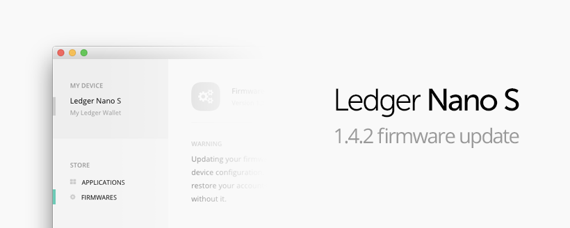 Ledger nano s os & firmware update hardware wallet bitcoin zcash.