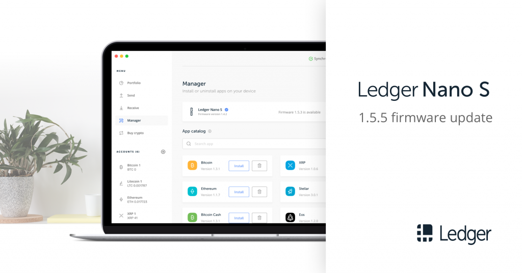 Ledger releases new Nano S firmware update - Ledger