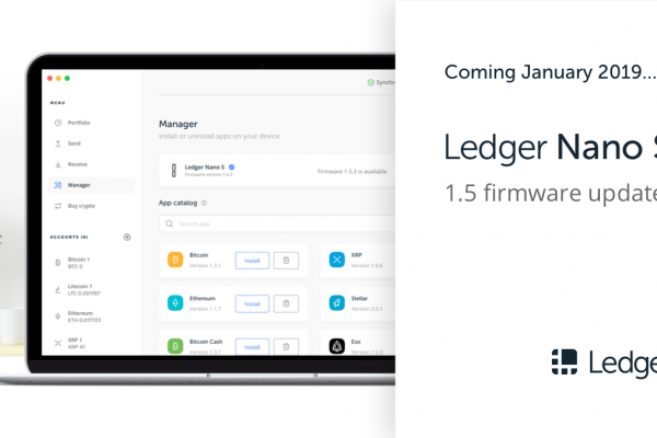 Ledger Nano S firmware update to be released early January 2019