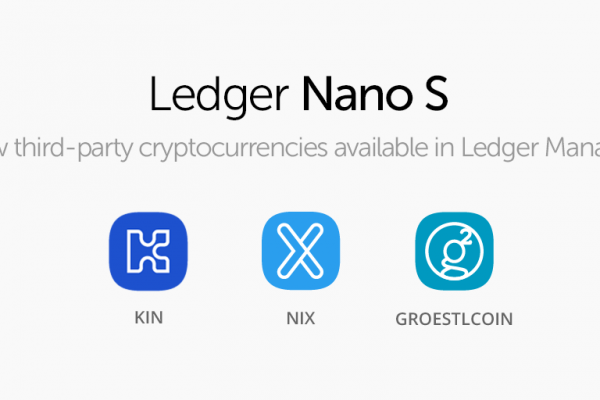 CryptoTuesday: Ledger Celebrates Seventh Edition, Adding Kin, Groestlcoin and Nix Platform.