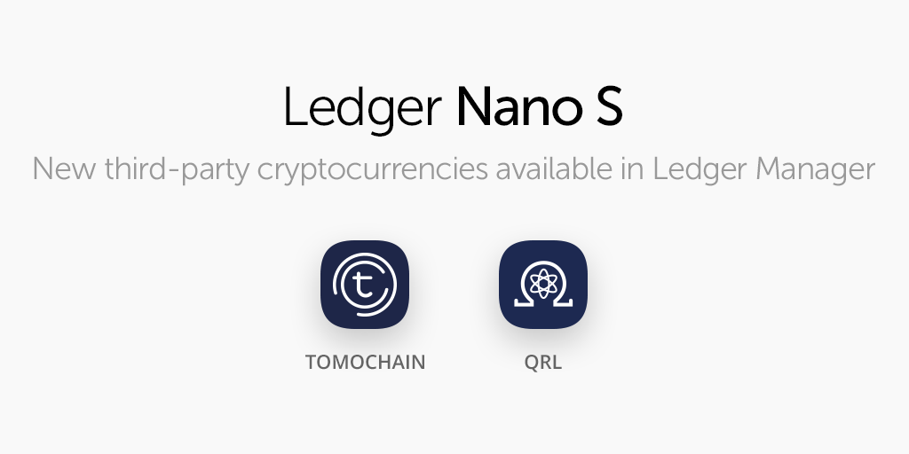 CryptoTuesday: Eighth Edition Brings TomoChain and QRL to the Ledger Nano S