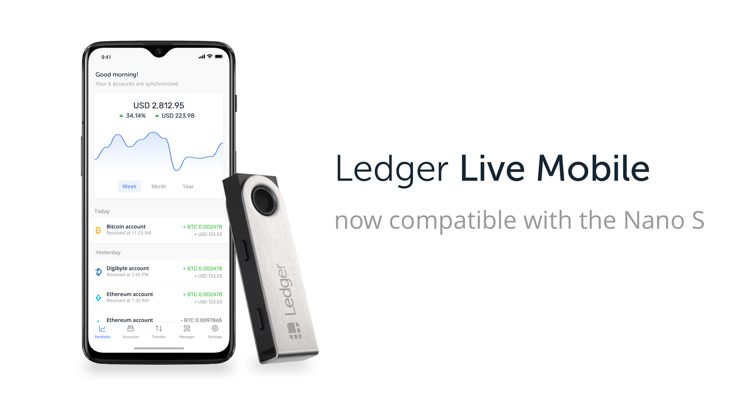 Ledger Nano S: Ledger Live Mobile Compatibility Now Available for Android Users.