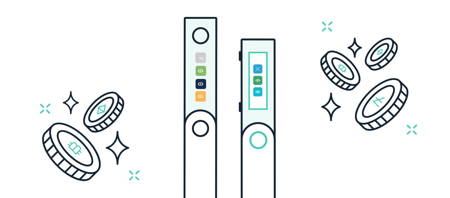 Two hardware wallets