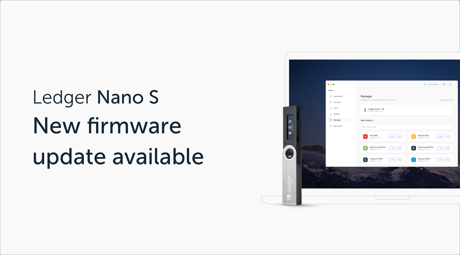 Ledger Nano S Firmware Update