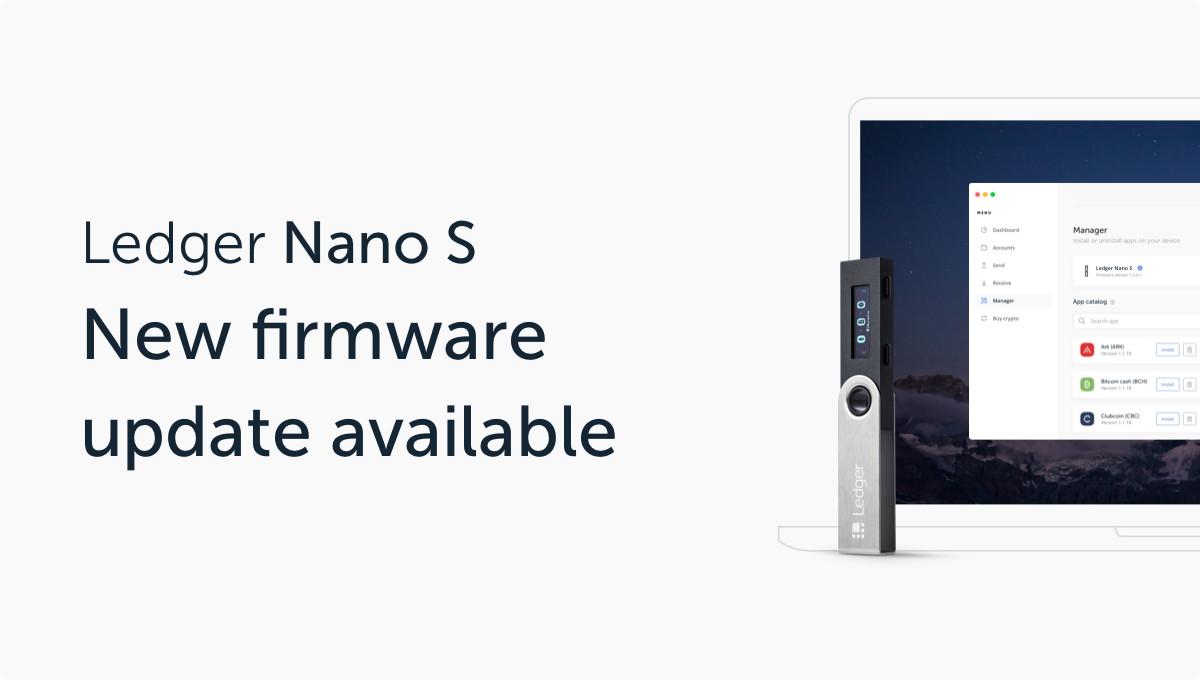 New Firmware Version 1.6 Available for Ledger Nano S