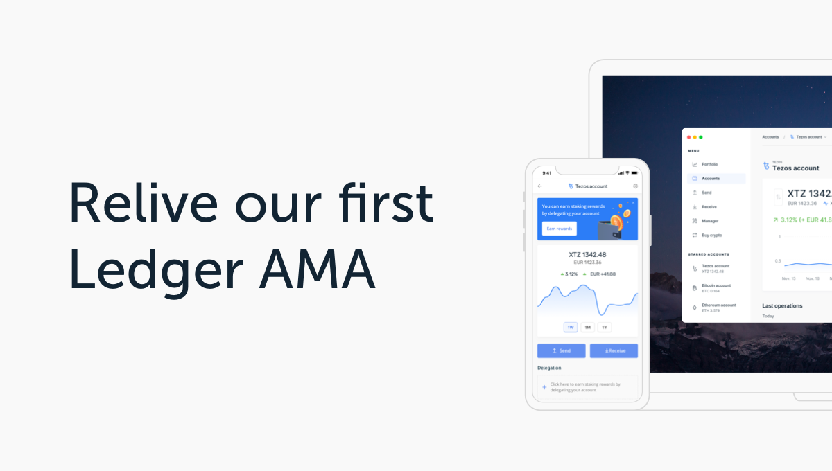 Ledger's First AMA – A Short Recap