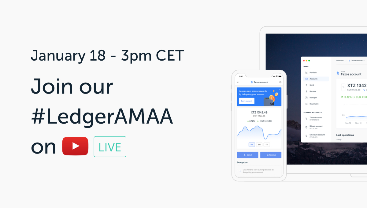 Ledger's Hosting its First Ask Me Anything (AMA): Join us on 18 January!