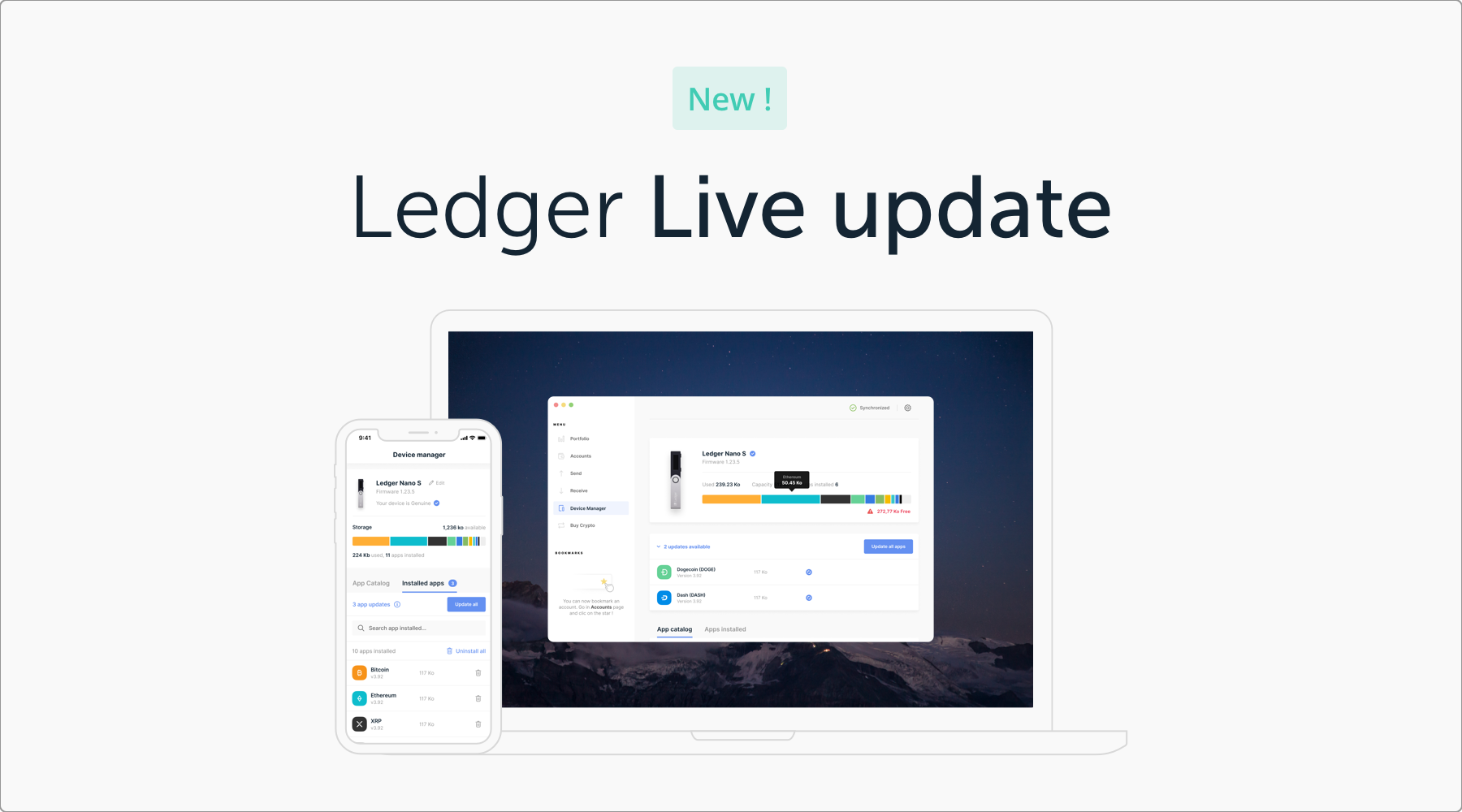 Ledger Live manage your crypto