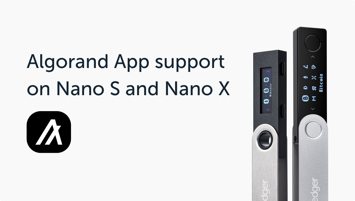 Ledger Adds Algorand Support – First Third Party Mobile Wallet