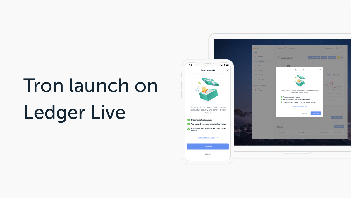 More Staking in Ledger Live: Integration of Tron