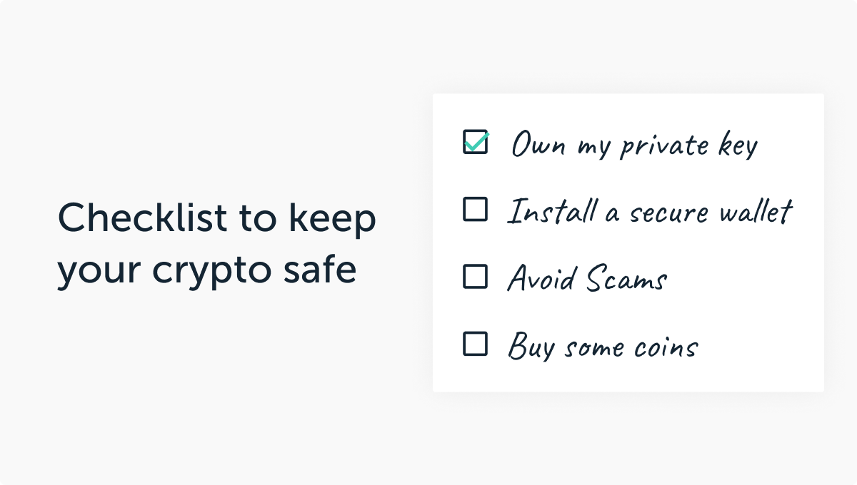 Checklist to keep your family crypto safe