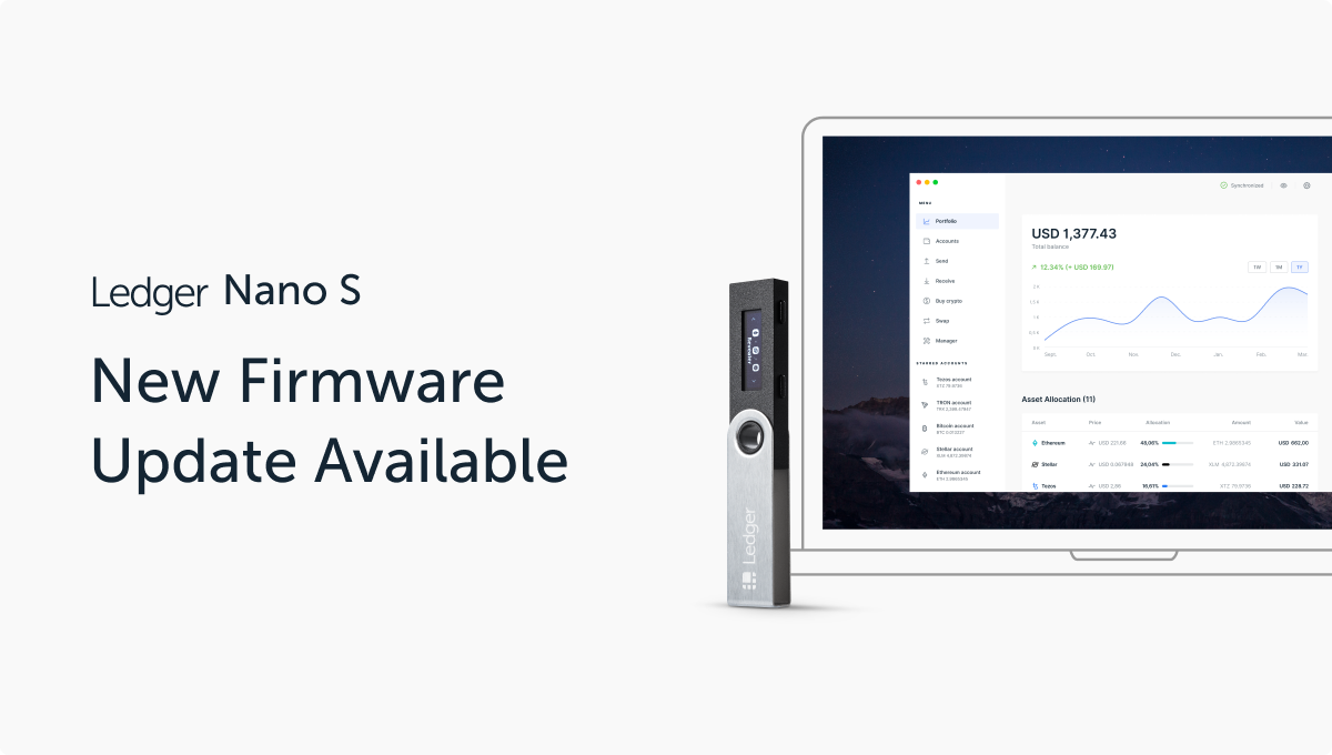 Ledger Nano S: Firmware Version 1.6.1 Now Available!