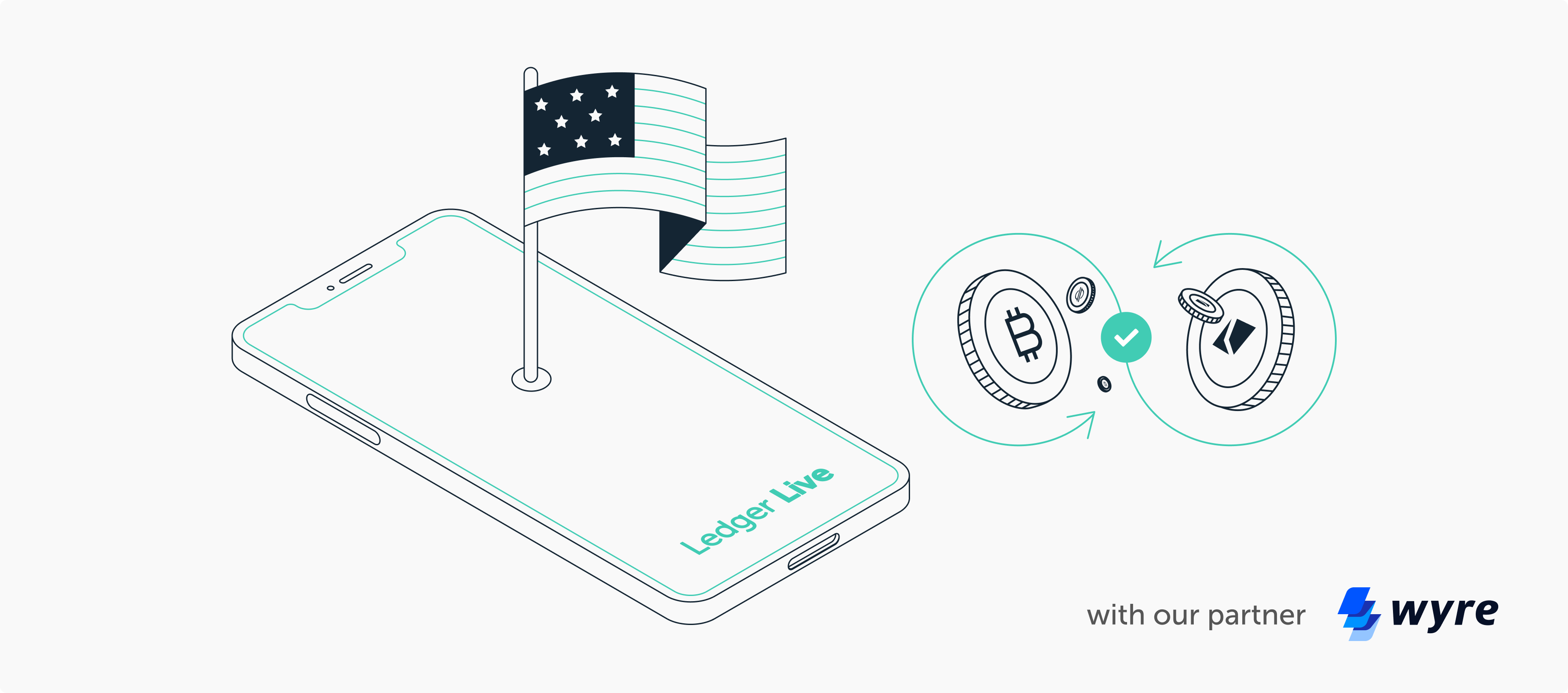 US investors can now exchange their digital assets on Ledger with Wyre