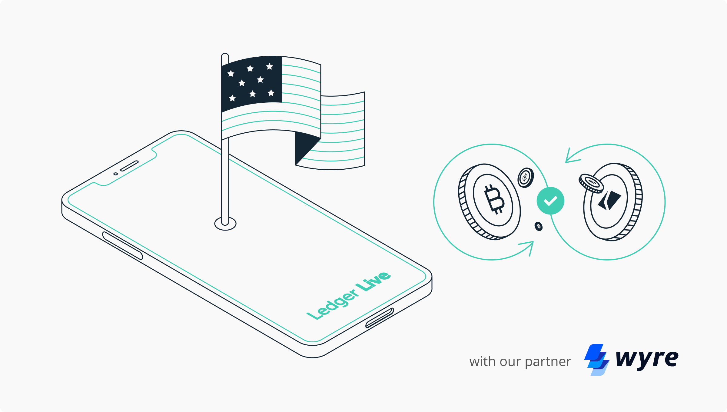 US investors can now exchange their digital assets on Ledger with Wyre!